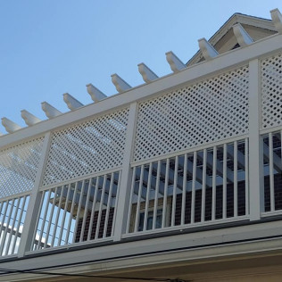 Deck with Pergola After